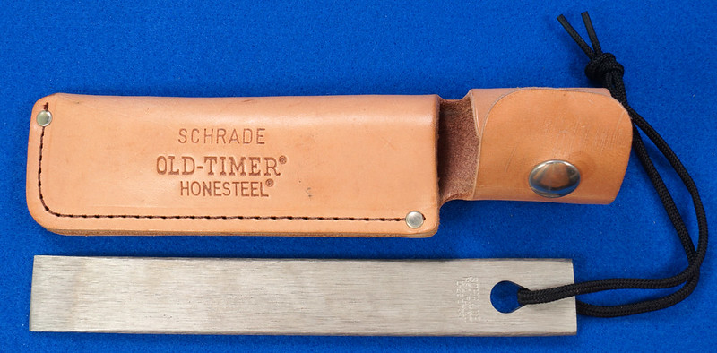 RD29529 Vintage Schrade Old Timer Honesteel with Leather Sheath with Paperwork DSC03128