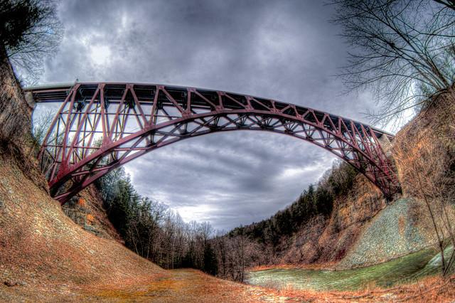 Portageville Viaduct Fisheyed