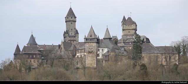 Panoramic view of Schloss Braunfels, Braunfels, Germany