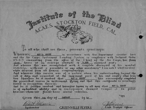 """Institute of the Blind"" Certificate"