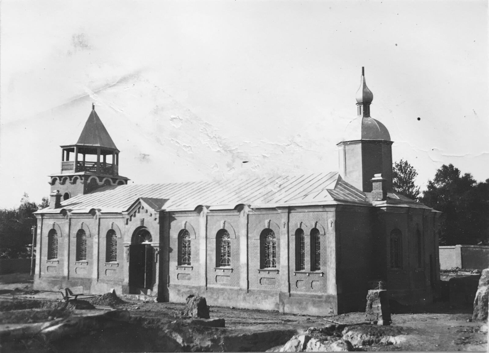 Новая строящаяся церковь. 1913