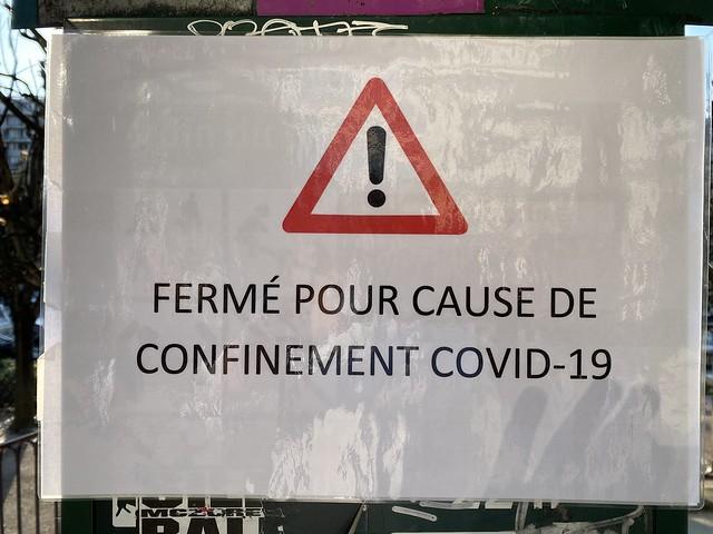 Covid-19 fermer / Restez chez vous