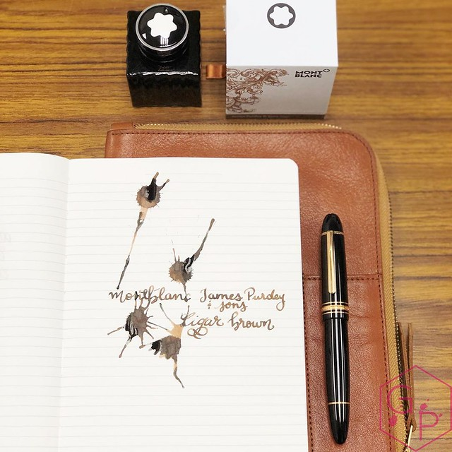 Montblanc James Purdey & Sons Cigar Brown Scented Ink 3_RWM