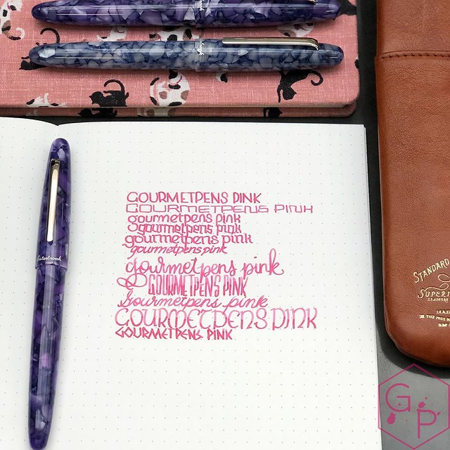 Akkerman Gourmet Pens Pink Ink Looks Fab in the Esterbrook Estie Lilac (100% Unbiased.)_RWM