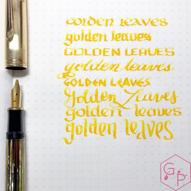 Colorverse Inks 59 & 60 Ginkgo Tree & Golden Leaves 1_RWM