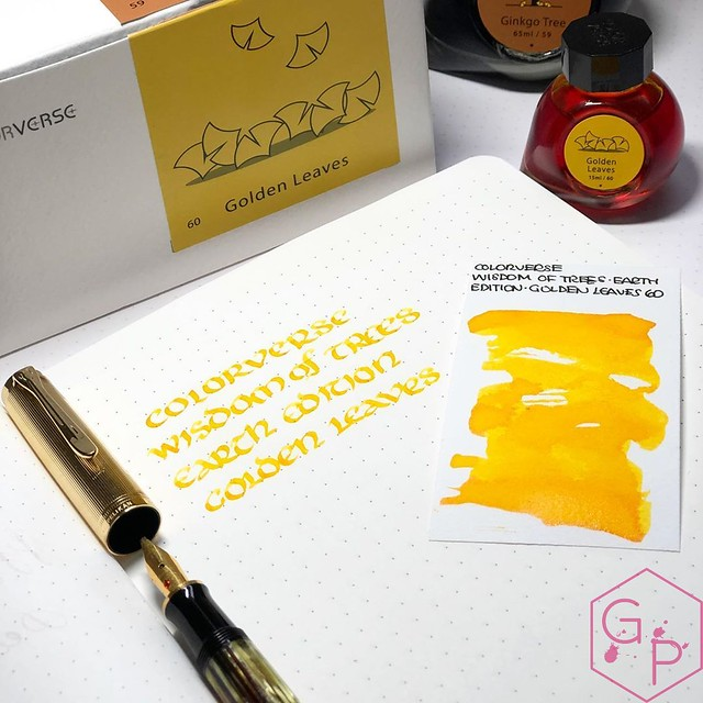 Colorverse Inks 59 & 60 Ginkgo Tree & Golden Leaves 2_RWM