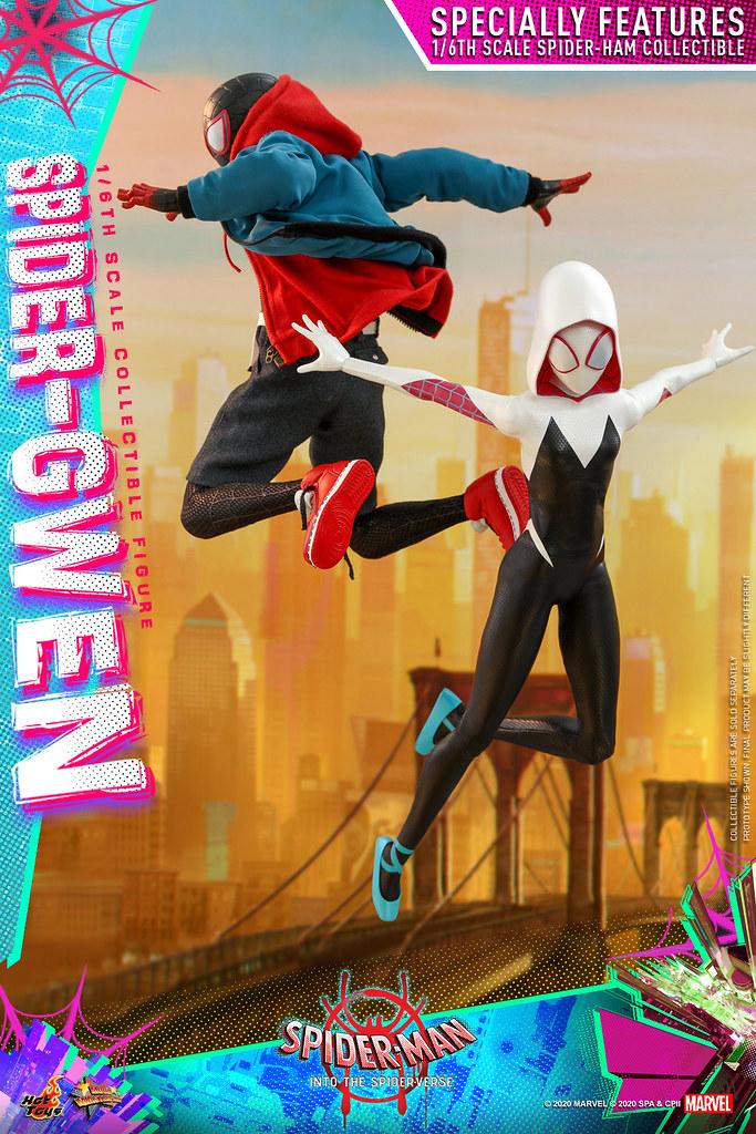 Hot Toys - MMS576 -《蜘蛛人:新宇宙》女蜘蛛人·關 (Spider-Gwen) 1/6 比例人偶 還有可愛的「蜘豬人」一起登場!