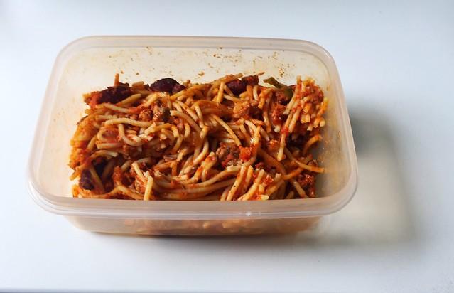 Gratinated Spaghetti - Leftovers III / Überbackene Spaghetti -  Resteverbrauch III