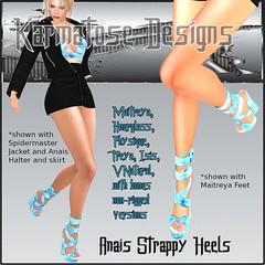 Karmatose Anais Strappy Heels Ad