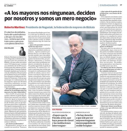 Entrevista a Roberto Martínez, Presidente de Nagusiak