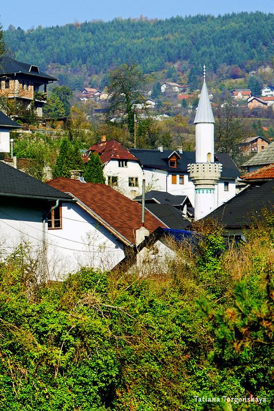 Пейзаж с минаретом мечети Эсме-султании