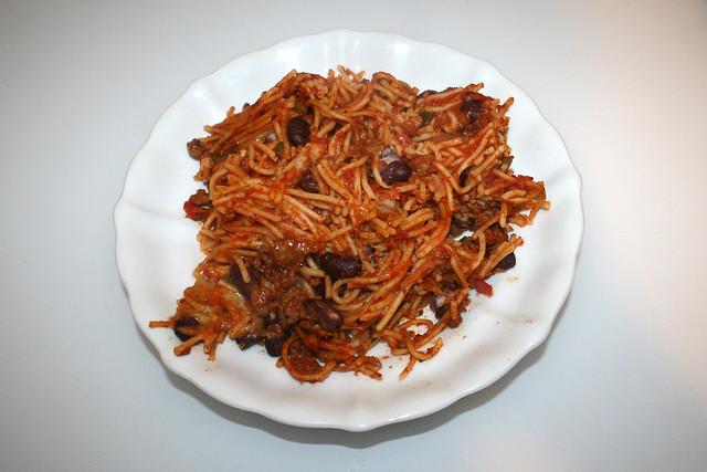 Gratinated Spaghetti - Leftovers II / Überbackene Spaghetti -  Resteverbrauch II