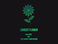 Linocut Flower Design