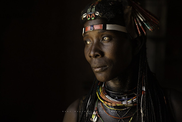 Mukawana (Muhakaona) woman in Okangwati. Kunene Region, Namibia.