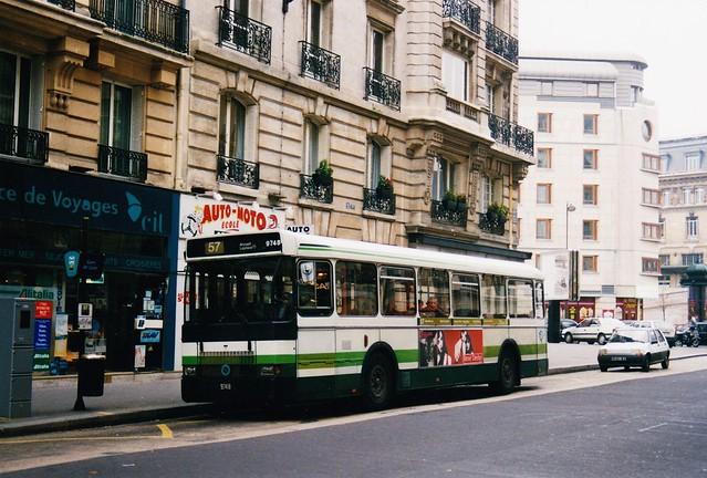 RATP Renault SC10R 9748 Gare de Lyon Paris 12ème 1993a