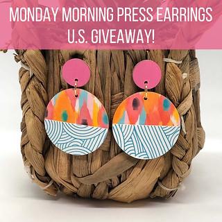 Letterpress Earrings - Instagram Giveaway