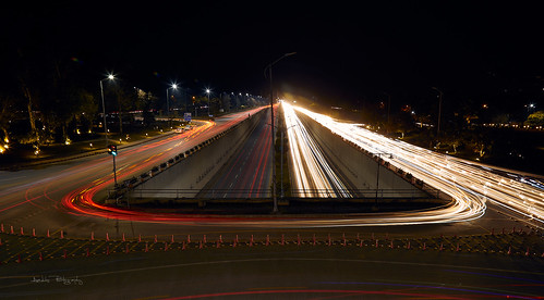 city urban landscape traffic rush hour busy cars lights night cityscapes bridge roads signals aadils photography