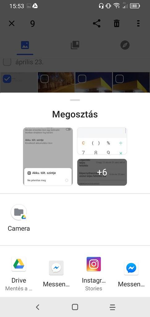 Fotómegosztás opciói
