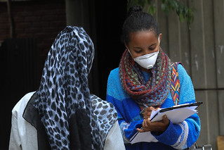 Tirusew Getachew, a Social Worker interviews a young girl who recently deported from Saudi Arabia | by UNICEF Ethiopia