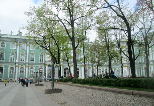 Winter Palace Courtyard Trees, St Petersburg
