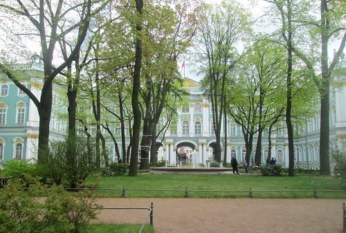 Trees in Courtyard, Winter Palace, St Petersburg