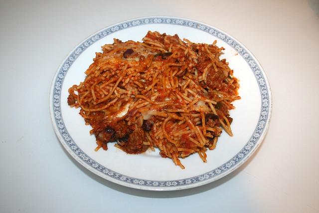 Gratinated Spaghetti - Leftovers I / Überbackene Spaghetti -  Resteverbrauch I