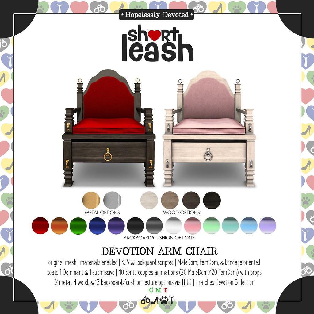 .:Short Leash:. Devotion Arm Chair