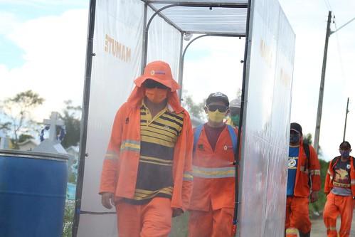 29.04.2020 Instalação de cabine de sanitização