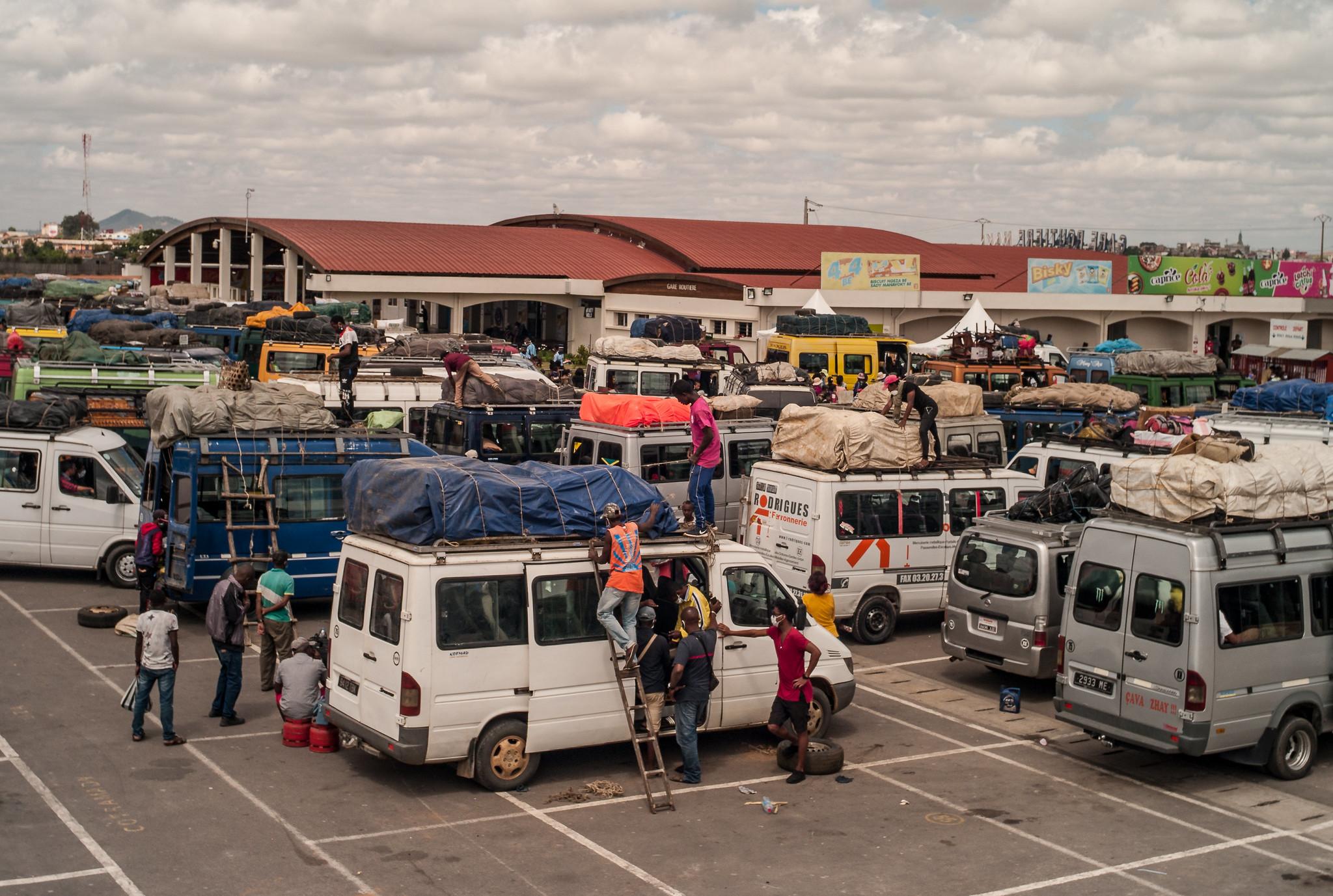 People leaving Antananarivo