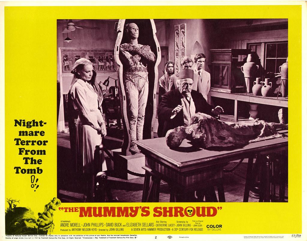 Dans les griffes de la momie / The Mummy's Shroud (John Gilling, 1967) lobby card