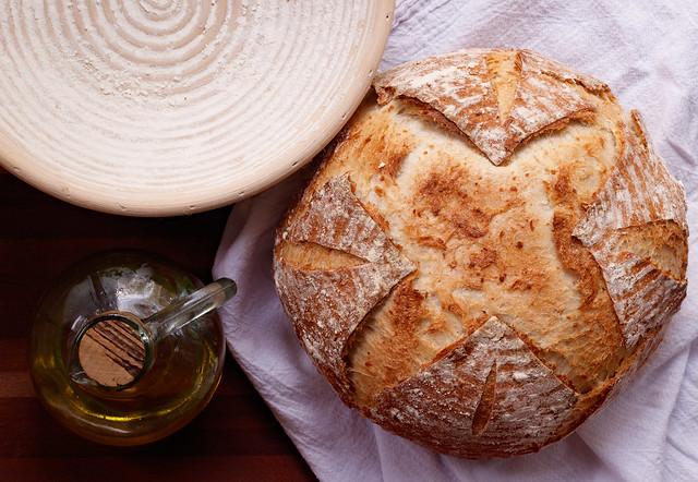 Homemade Sourdough Beer Bread