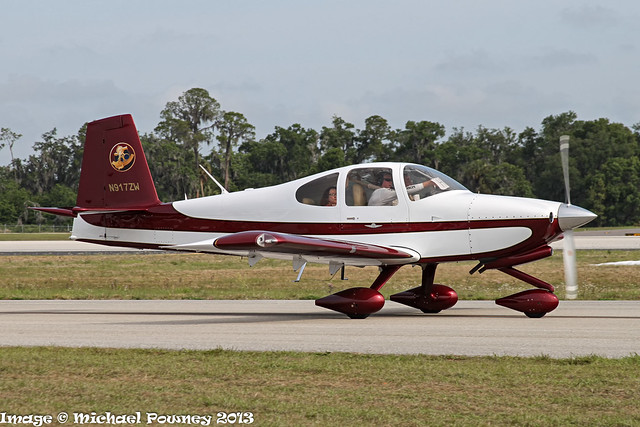 N917ZW - 2010 build Vans RV-10, taxiing to parking on arrival at Lakeland during Sun 'n Fun 2013