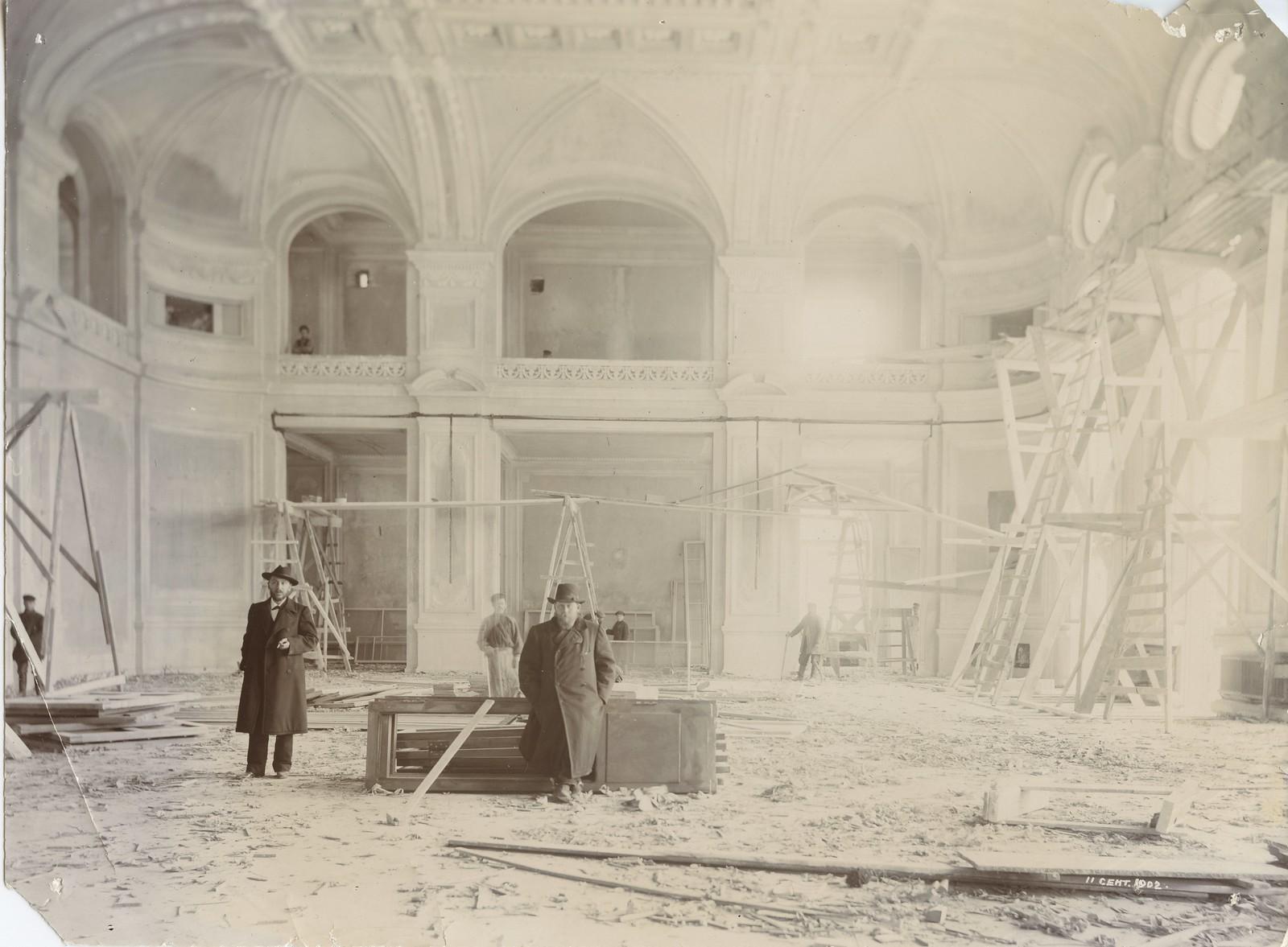 09. 1902. 11 сентября. Строительство актового зала