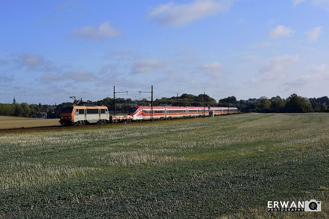 23/09/2019 - BB26234 + Zéfiro ETR 400 n°25   Train n°818161 : Trappes-Marchandises > Plouaret