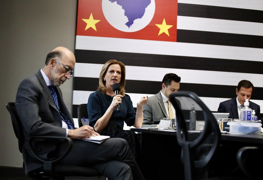 Reunião virtual com prefeitos do interior de São Paulo