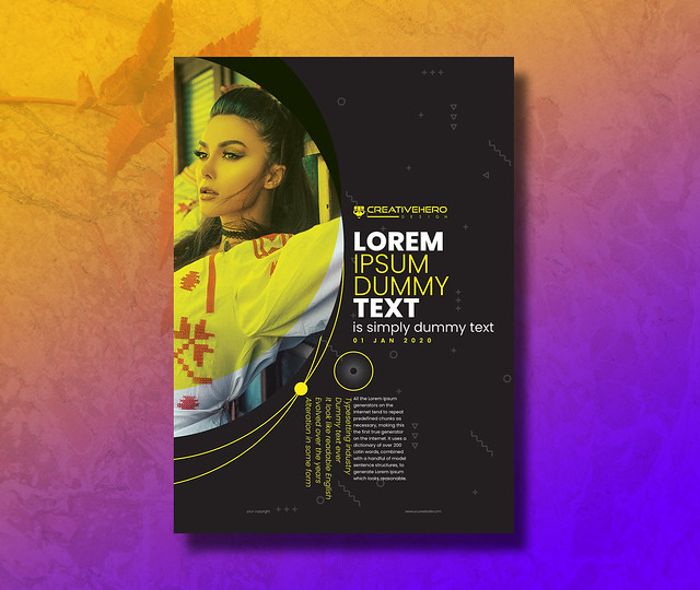 Minimal Typography Poster | Flyer Design