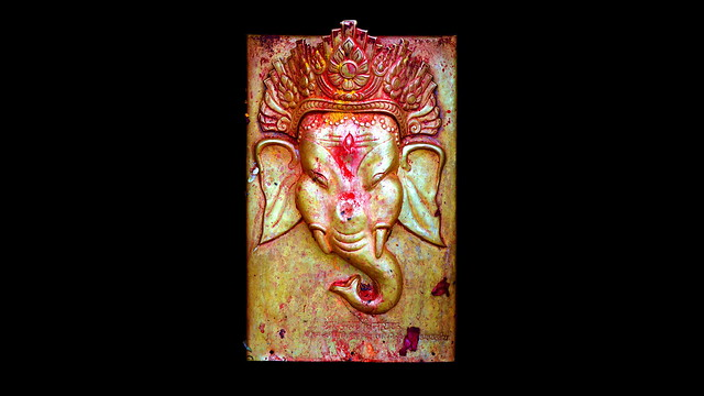 Nepal - Bungamati - Karya Binayak Temple - Ganesha - 16d