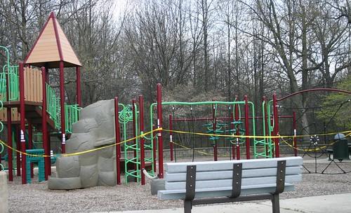 Caution Tape Around Playground