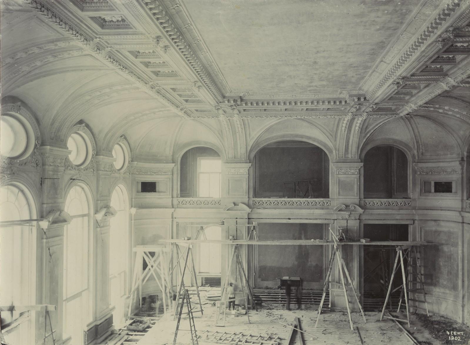 08. 1902. 4 сентября. Строительство актового зала.
