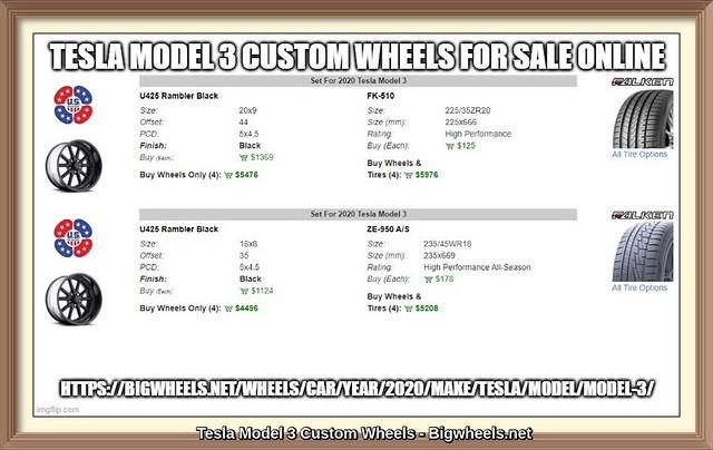 Tesla Model 3 Custom Wheels for Sale Online