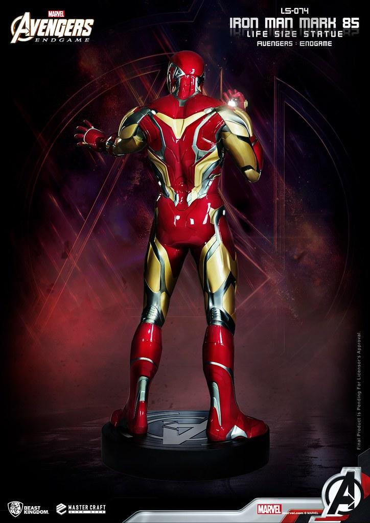 高度超過兩百公分的驚人大作!! 野獸國《復仇者聯盟:終局之戰》鋼鐵人馬克 85 (Iron Man Mark 85) 1:1 全身雕像 一般版/豪華版