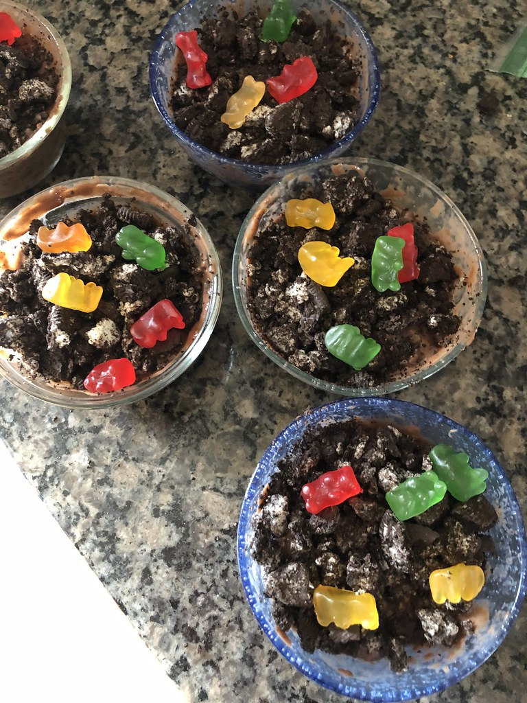 Dirt cups turned
