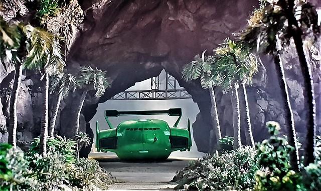 Thunderbird 2 Departs the Hangar on Tracey Island