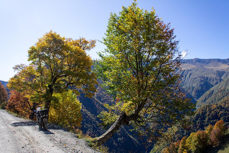 Осень в Тушети. Дорога в Омало