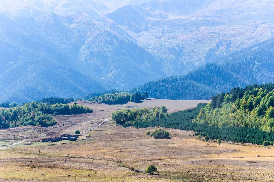 Долина, в которой расположено село Омало