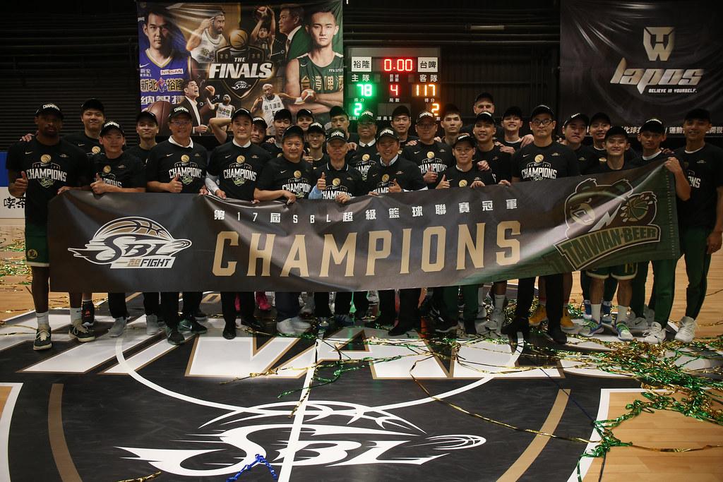 台啤收下隊史第5冠。(籃協提供)