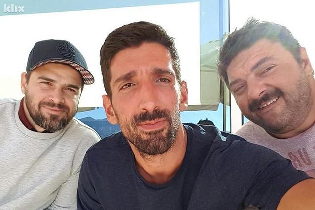 Slavko Sobin, Reshad Strik i Goran Navojec na setu Papillon