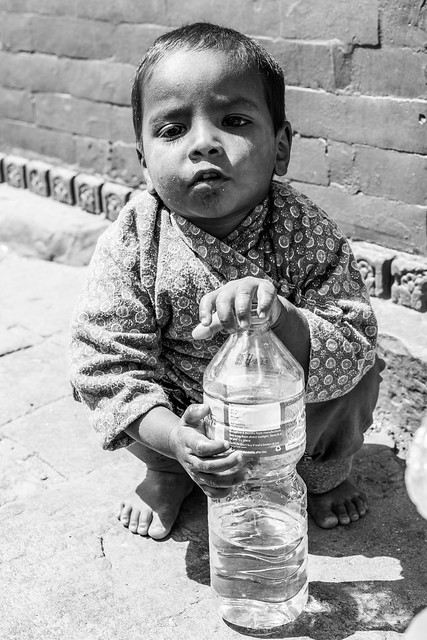 Keep Hydrated, Child Portrait, Nepal