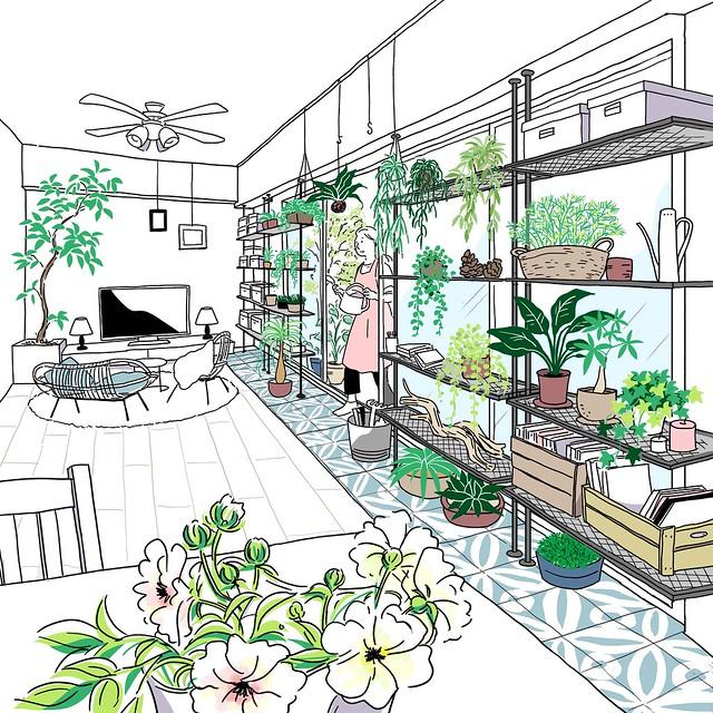 花と緑と暮らすボタニカルルーム(阪急阪神不動産 ジオ阪急水無瀬ハートスクエア 「理想の一邸」)