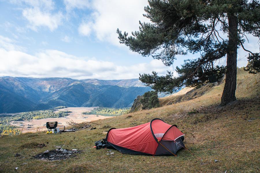 Мой лагерь рядом с Верхним Омало